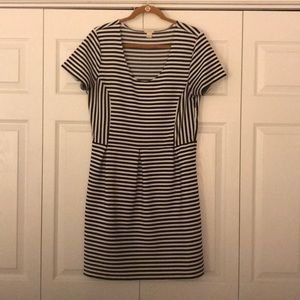 J Crew Factory-Striped Black and White Dress (14)